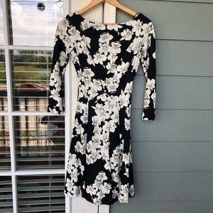 Erdem Size US 4 Floral Vivi Knit Fit Flare Dress